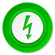 Stock Illustration of bolt icon, flash sign.