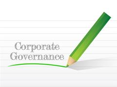 corporate governance message written - stock illustration