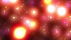 Psychedelic warm spheres starfield stars flight loop 2 rotate right Stock Footage