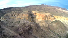 Rock Canyon Fly Over Aerial Stock Footage