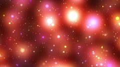 Psychedelic warm spheres starfield stars flight loop 3 - stock footage