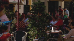 Hustle and bustle of Spanish street life-   Stock Footage