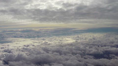 Heaven paradise clouds fly above, beautiful view cumulus, flight Stock Footage