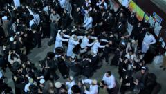 jewish hasidic dance 3 - uman-ukraine 2014 - stock footage