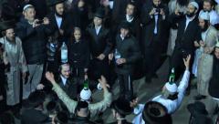 Jewish hasidic dance 7 - uman-ukraine 2014 Stock Footage
