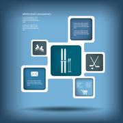 Stock Illustration of Winter sports and activities infographics template