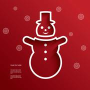 Christmas vector illustration with cutout 3d effect Stock Illustration