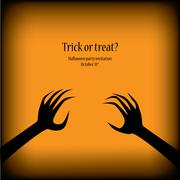 Halloween illustration vector suitable for party invitations with scary theme - stock illustration