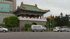 North City Gate in Taipei,Taiwan Stock Footage