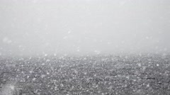 Lake Snow, Blizzard, Winter Stock Footage