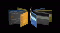 Credit Cards Animation Stock Footage