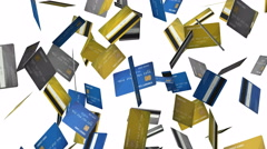 Credit Cards Animation  - 4K Resolution Ultra HD Stock Footage