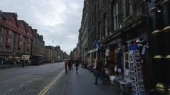 The Royal Mile in Edinburgh, Scotland - stock footage