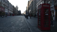 4K Royal Mile in Edinburgh, Scotland - stock footage