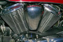 Stock Photo of motorbike cylinder engine