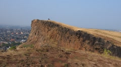 Holyrood Park in Edinburgh, Scotland Stock Footage