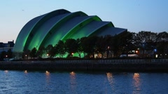 Clyde Auditorium in Glasgow, Scotland Arkistovideo