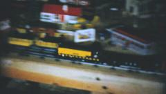Happy Boy With New Christmas Train Set-1954 Vintage 8mm film - stock footage