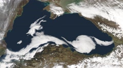 The Black Sea from space Stock Footage