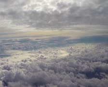 Heaven paradise clouds fly above, beautiful view cumulus, flight, click for HD Stock Footage