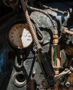 steam gauge - stock photo