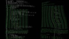 Source code deformed Stock Footage