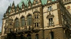 Hamburg town hall Stock Footage