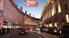 Regent Street London at dusk wonderful evening light - stock footage