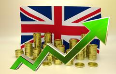 Currency appreciation - UK pound Stock Illustration