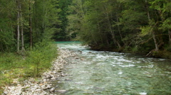 Goodell Creek Merging into the Skagit River Stock Footage