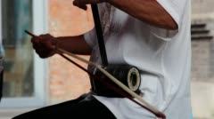 playing traditional instrument:erhu - stock footage