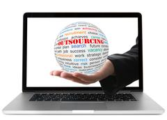 concept of outsourcing - stock photo