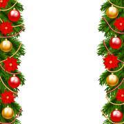 Christmas garland Stock Illustration