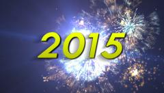 2015 Year Text Stock Footage
