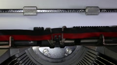 Stock Video Footage of Typewriter Types Fashion - Closeup