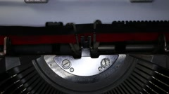 Typewriter Types Made in Italy- Closeup Stock Footage