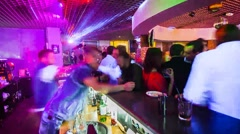 Bar in club. Time Lapse - stock footage