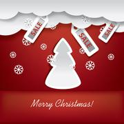 Christmas card concept vector illustration suitable for advertising sales - stock illustration