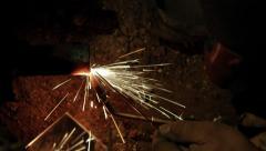 Welding underground water pipe 4/4 4k Stock Footage