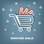 Winter sale vector concept - stock illustration