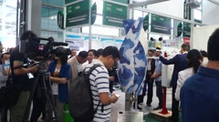 The sixteenth session of the China international hi tech Fair Stock Footage