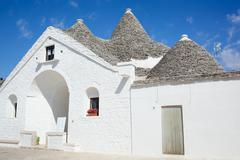 sovereign trullo in alberobello - stock photo