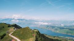 Lake Luzern view from Rigi Stock Footage