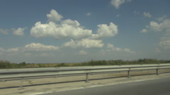 Speeding on freeway, inside car shot, fast movement on road, high speed driving Stock Footage