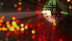 Abstract background and mirror ball Stock Footage