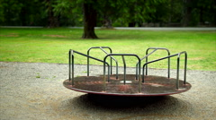 Rusted Merry Go Round - stock footage