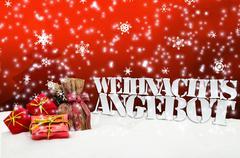 Weihnachtsangebot angebot angebote weihnachten rot Stock Illustration