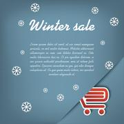 Stock Illustration of Winter sale vector concept