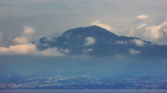 Naples under Cloudy Mount Vesuvius - 4K 29,97FPS NTSC Stock Footage