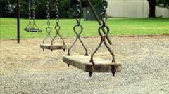 Empty Old Swing Stock Footage